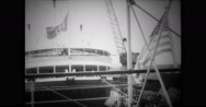 View of passenger ship in sea Stock Footage