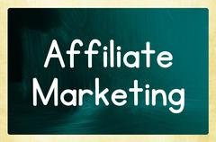 affiliate marketing concept - stock photo