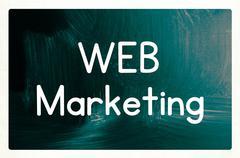 Web marketing concept Stock Photos