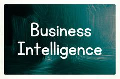 Business intelligence concept Stock Photos