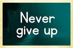 Never give up concept Stock Photos