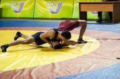 Stock Photo of youth competitions on sporting wrestling