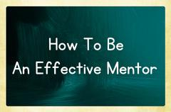 how to be an effective mentor - stock photo