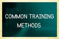 common training methods - stock photo