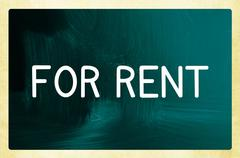 Stock Photo of for rent concept