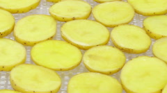 Time-lapse of drying potato Stock Footage