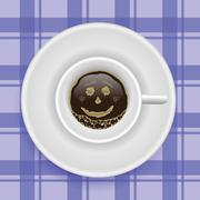 cup of coffee - stock illustration