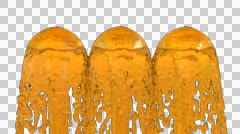 Animated fountains of honey Stock Footage