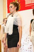 The girl in the orenburg downy shawl, Stock Photos