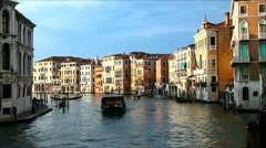 Venice Italy, grand canal, late afternoon - stock footage
