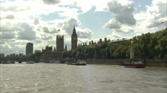 Stock Video Footage of Houses of Parliament Tracking Shot (2)