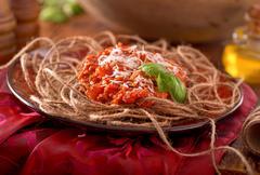 spaghetti twine - stock photo
