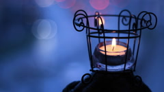 romantic day holiday christmas candle light Stock Footage