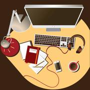 workplace soft color - stock illustration