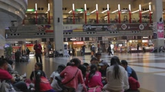 Taipei station - main hall Stock Footage