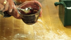 Making a berry pie pastry Stock Footage