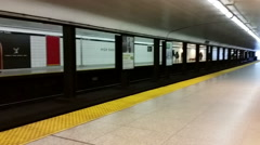 Toronto Subway Station Stock Footage