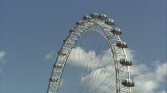 London Eye Tilt Stock Footage
