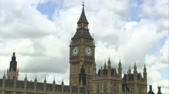 Stock Video Footage of Big Ben Tracking Shot (2)