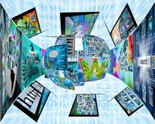 sphere of information - stock illustration