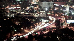 Hollywood Freeways Timelapse - stock footage