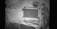 Motion picture camera drawings Stock Footage