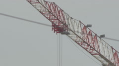 Construction crane 4K + HD _ work in progress Stock Footage