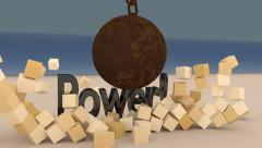 Indestructible Power Stock Footage