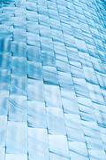 abstract background of blue shining blocks. - stock photo