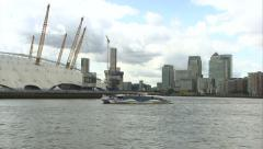 o2 Arena & Commuter Boat - stock footage