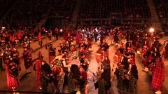 Edinburgh Military Tatoo, dances and military parade Stock Footage