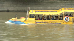 Stock Video Footage of London Duck Tours Boat