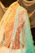 Orenburg downy shawl Stock Photos