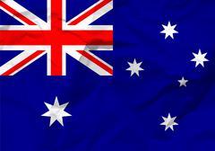 Crumpled paper australia flag Stock Illustration