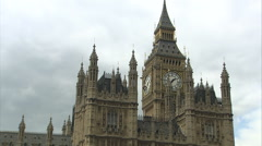 Stock Video Footage of Big Ben Tracking Shot