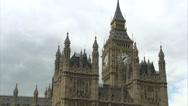 Stock Video Footage of Big Ben Tracking Shot