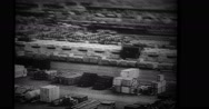 View of supplies at harbour Stock Footage