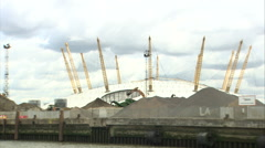 O2 Arena Tracking Shot (2) Stock Footage