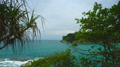 Landscape with sea coast. thailand, phuket island Stock Footage