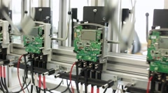Stock Video Footage of Calibration electrical equipment on stand