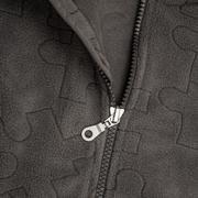 close up zipper - stock photo