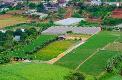 Farming plots of land, mountain vietnam Stock Photos