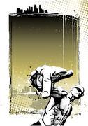 rapper poster background - stock illustration