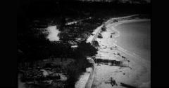 Aerial view of seashore Free Stock Footage