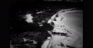 Aerial view of seashore Stock Footage