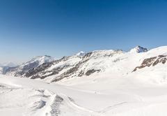 Aletsch glacier in the jungfraujoch, swiss alps, switzerland Stock Photos