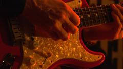 Guitarist playing lead electric guitar Stock Footage