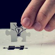 Finding the perfect idea Stock Photos