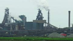 Heavy industry by Steelworks Stock Footage