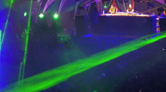 Light show at outdoor music festival Stock Footage